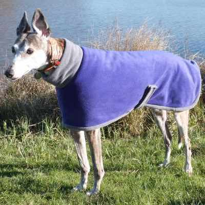 Euro Greyhound Coats Fleece In Purple and Charcoal
