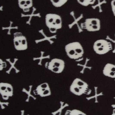 Skull and Bones Fleece Coat Fabric