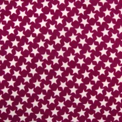 greyhound lurcher whippet fleece coat in very berry star design berry design